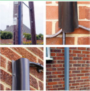 Cable Guard plastic cable protection for poles and walls