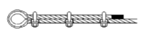 Galavnized Commercial Wire Rope Grip on Wire Rope