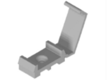 Grey Non-Metallic Tape Clip